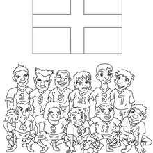 Desenho do time de futebol da Inglaterra para colorir