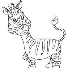 Desenho de uma zebra para colorir online