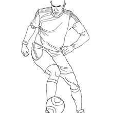 Desenho do Zidane jogando futebol para colorir