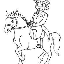 Desenho de uma menina treinando o seu Cavalo para colorir