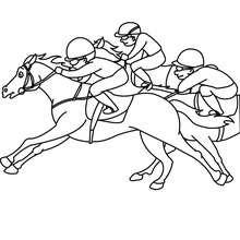Desenho de uma corrida de Cavalo para colorir online