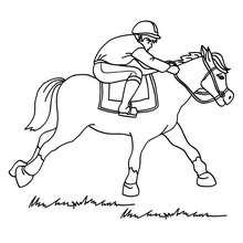 Corrida de cavalo para colorir