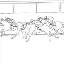 Uma corrida de cavalo para colorir online