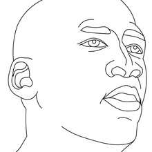 Desenho do Michael Jordan para colorir