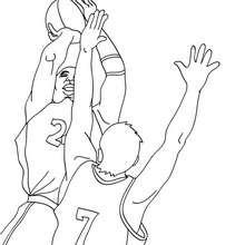 Desenho de jogadores de basquete para colorir