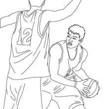 Desenho de jogadores de basquete para colorir online