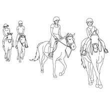 Desenho de uma escola de equitação para colorir online