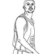 Desenho do Tony Parker para colorir