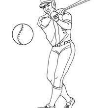 Desenho do batedor de beisebol para colorir
