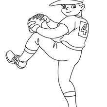 Desenho do lançador de beisebol para colorir
