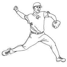 Desenho de um lançador de beisebol para colorir online
