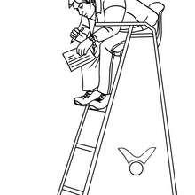 Desenho de um Juiz do Vôlei para colorir