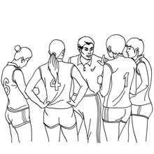 Desenho de um time de Voleibol  para colorir