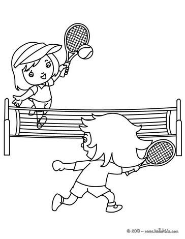 desenhos para colorir de desenho de uma quadra de tênis com 2