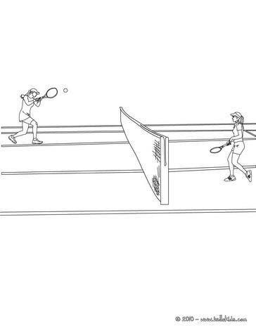 desenhos para colorir de desenho de uma quadra de tênis para colorir