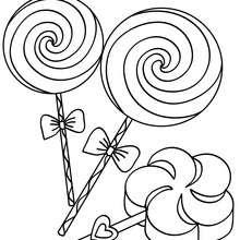 Desenho de pirulitos gigantes para colorir