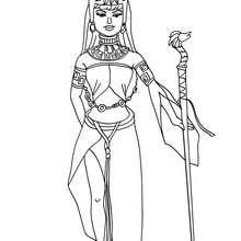 Desenho de uma Princesa Asteca para colorir
