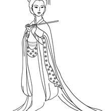 Desenho de uma Princesa chinesa para colorir online