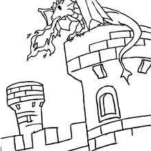 Um dragão para colorir