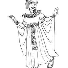 Desenho de uma bela Princesa Egípcia para colorir