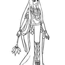 Desenho de uma Princesa Egípcia para colorir