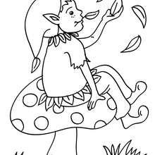 Desenho de um Elfo engraçado para colorir
