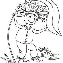 Desenho para colorir de um Elfo divertido