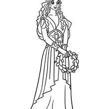Desenho de uma Princesa grega para colorir