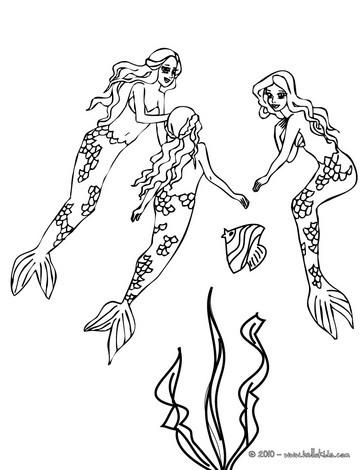 coloring pages mermaids h2o sims | Desenhos para colorir de desenho de um adorável grupo de ...