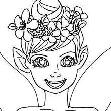 O retrato de um Elfa para colorir