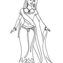 Desenho de uma Princesa Indiana para colorir