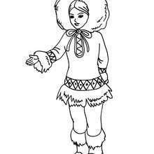 Desenho de uma Princesa esquimó para colorir online