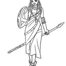 Desenho de uma Princesa Massai para colorir