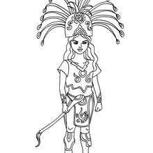 Desenho de uma Princesa Maia para colorir