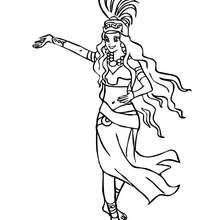 Desenho de uma bela Princesa Maia para colorir online