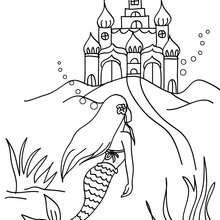 Desenho do reino da sereia para colorir