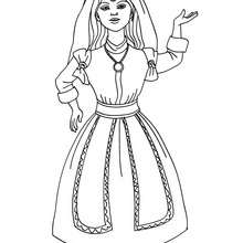 Desenhode uma Princesa marroquina para colorir