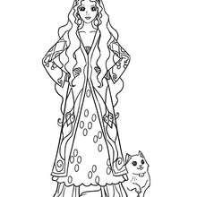 Desenhode uma Princesa da Pércia para colorir