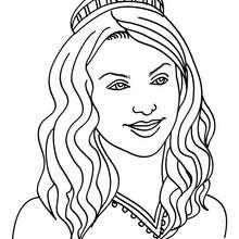 Desenho de uma Princesa de cabelo ondulado  para colorir