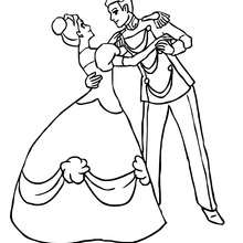 Desenhos Para Colorir De Desenho De Um Principe Com Uma Princesa
