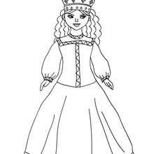 Desenho de uma Princesa Russa para colorir