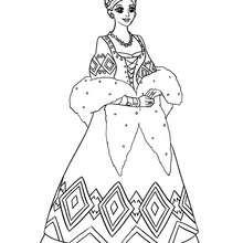 Desenho de uma bela Princesa Russa para colorir