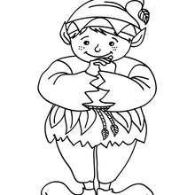 Desenho de um pequeno  Elfo  para colorir