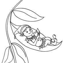 Desenho de um Elfo lendo para colorir