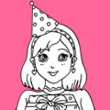 aniversário, Desenhos de aniversarios de meninas para colorir