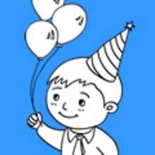aniversário, Desenhos de aniversarios de meninos para colorir