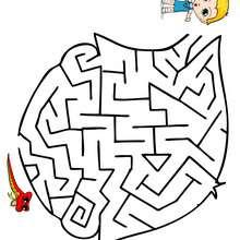 Labirinto fácil para imprimir : ENCONTAR MEU BRINQUEDO