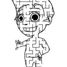 Labirinto divertido para imprimir : CRIANÇA