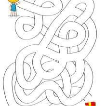 Labirinto fácil para imprimir : PRESENTE