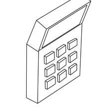 Desenho de uma calculadora para colorir